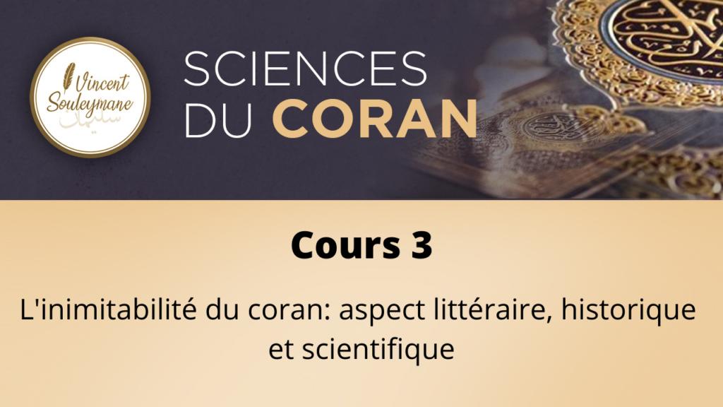 Sciences du coran – Cours 03